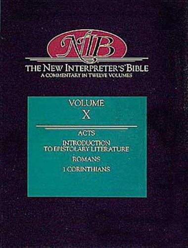 The New Interpreter's Bible : Acts - First Corinthians (Volume 10): Robert W. Wall, J. Paul Sampley, N. T. Wright: 9780687278237: Amazon.com: Books