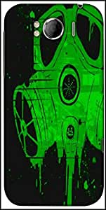 Snoogg Smoke Mask Designer Protective Back Case Cover For HTC Sensation Xl