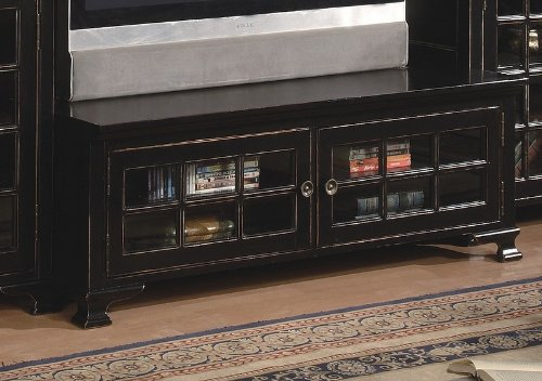 Cheap Antique Black Finish LCD / Plasma Flat Panel TV Stand (VF_700186)