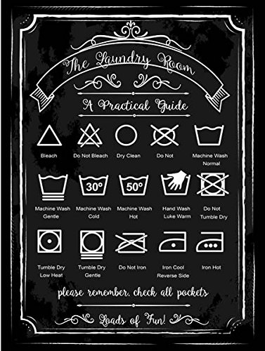 laundry-guide-metal-sign-home-decor-modern-decor-laundry-room-decoration