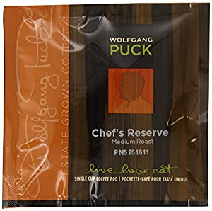 Wolfgang Puck Coffee, Chef's Reserve, Medium Roast, 18-Count Pods (Pack of 3)