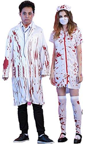 [ShonanCos Zombie Uniform Doctors and Nurses Halloween costumes (Doctor)] (Zombie Nurse Costumes)
