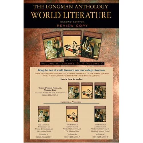 The Longman Anthology of World Literature, Volume I (A,B,C): The Ancient World, The Medieval Era, and The Early Modern Period (2nd Edition)