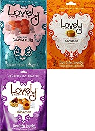 Lovely Cashamels, Sea Salt Caramel & Original Caramel Variety Combo (Pack of 3)