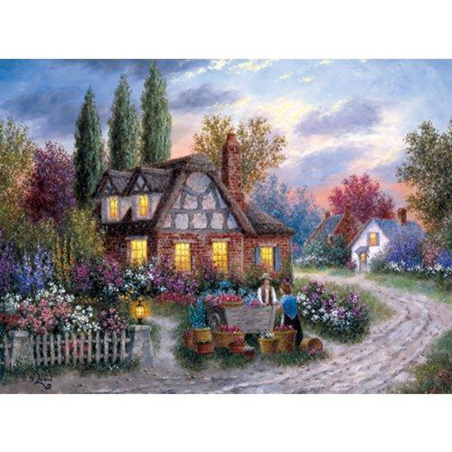Dennis Lewan: The Flower Vendor 1000 Pieces Jigsaw Puzzle