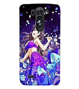 ColourCraft Beautiful Girl Design Back Case Cover for LG G3 BEAT
