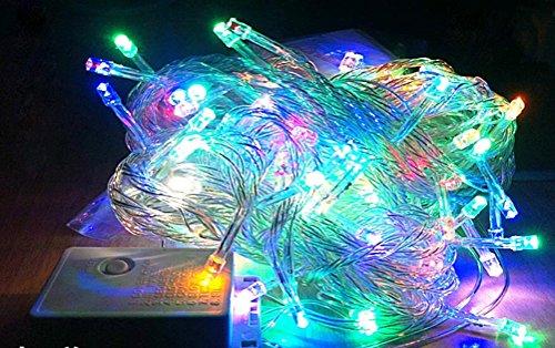 SMITHROAD 20M 200LED 30M 300LED 50M 400LED 100 800LEDWasserdicht Kupferdraht 220V 8 Modus LED String Lights LED Strip Leuchtet Holiday dekorative Lampen Sternenhimmel Lichterkette für Hochzeit Weihnachtsfeier Weihnachtsbeleuchtung