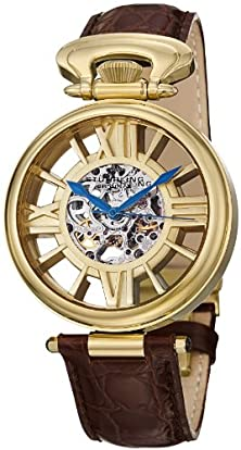 buy Stuhrling Original Men'S 297.333K31 Special Reserve Roman Emperor Automatic Skeleton Gold Tone Watch