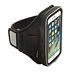 Sporteer Velocity V7 Armband for iPhone 6 Plus, Nexus 6P, Samsung Galaxy S6 Edge+, Galaxy Note 5, Galaxy Note 4, and Other Large Phones/Cases up to 160mm x 80mm x 15mm (Black, Strap Size M/L)
