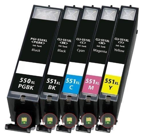 Cartucce originali per stampante a colori Canon Pixma IP 7250 IP7250 MX925 MX 925, sostituiscono PGI550 CLI551 (nero/ciano/giallo/magenta/nero), 5 pz