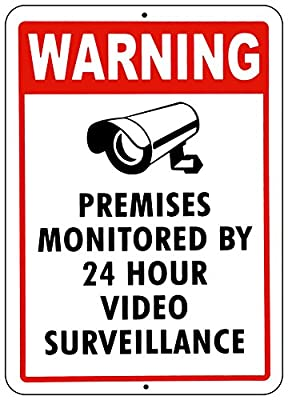 VIDEO SURVEILLANCE WARNING SIGN Property Protected by 24 Hour 10 x 14