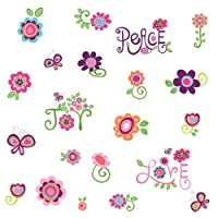 RoomMates RMK1649SCS Love, Joy, Peace Peel & Stick Wall Decals by York Wallcoverings