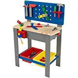 KidKraft Deluxe Primary Workbench Play Set with Tools