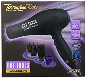Tourmaline Tools Lite 1043 by Hot Tools Professional 1875 Watt Tourmaline Ionic Professional Hair Dryer