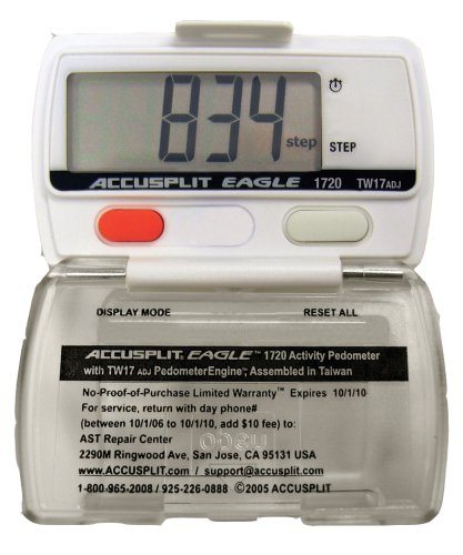 Cheap ACCUSPLIT Eagle AE1720WPR Steps Pedometer with Auto Activity Timer and 3 Step Delay (AE1720WPR)
