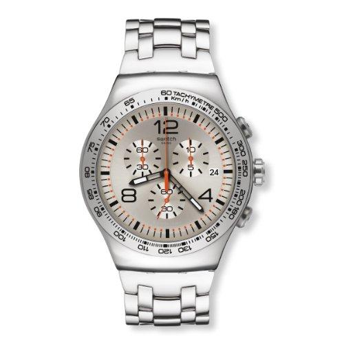 Swatch YOS445G - Orologio da polso uomo, acciaio inox, colore: argento