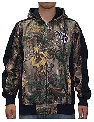 NFL TENNESSEE TITANS Mens Heavy Weight Zip-Up Hoodie / Jacket (Back Logo)