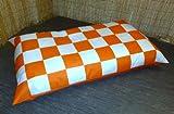 Zippy Orange & White Football Beanbag Floor Cushion - Sofa Bed - Chair - 54