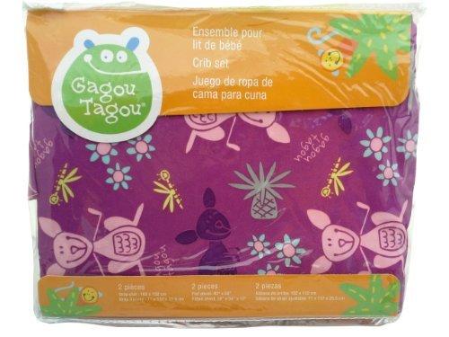 Gagou Tagou 2 Piece Crib Set - Lavender