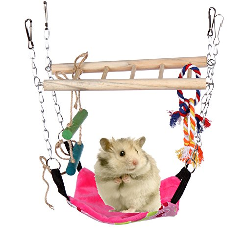 Hamster Toys,Small Animals Parrot Hammock Climber Ladder Color Random by YOYOUNG 51Es9y3CMqL