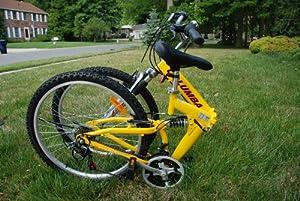 "Columba 26"" Alloy Folding Bike W. Shimano 18 Speed Yellow (RJ26A_Yel)"