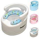 Kinder / Baby Töpfchen, gepolsterte Sitzfläche, Innentopf ist leicht zu entfernen und zu reinigen, bequemer Sitzkomfort für Kinder (Weiß)