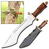 Big Foot Hunter Survival Outdoor Edge Ripper Double Sawback Bowie Knife