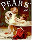 PEARS SOAP PUPPY WITH CHILDREN BATHROOM METAL SIGN LARGE 12X16in 30x40cm