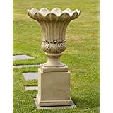Large Garden Planter - Annecy Stone Vase on Pedestal
