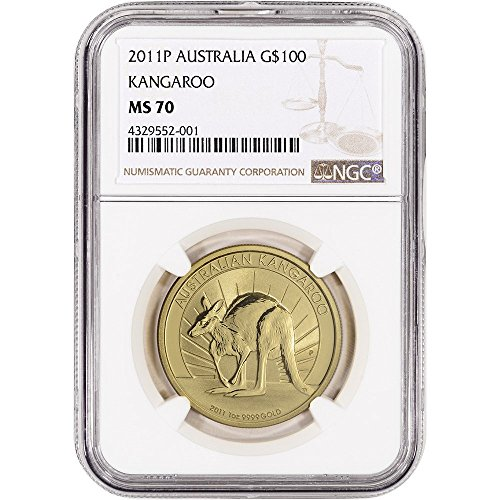2011 P Australia Gold Kangaroo (1 oz) Large Label $100 MS70 NGC