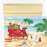 Beach Sleigh - Warm Weather, Tropical Christmas Cards