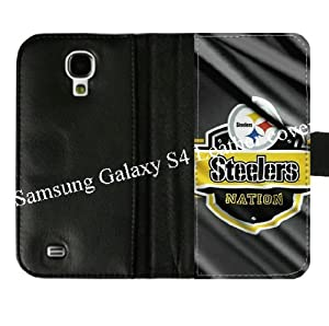 NFL Pittsburgh Steelers Background For Samsung Galaxy S4 S IV Diary Leather Cover Case Designed By Coolphonecases