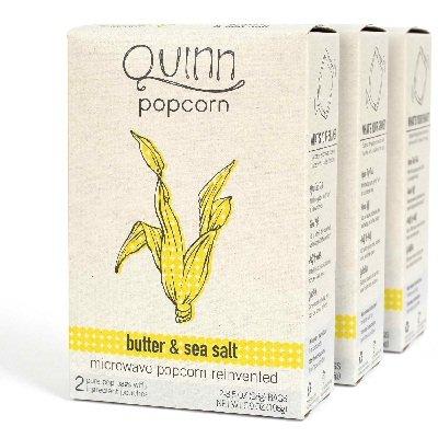 Quinn Bg17408 Quinn Btr-Sea Salt Popcorn - 6X6.9Oz