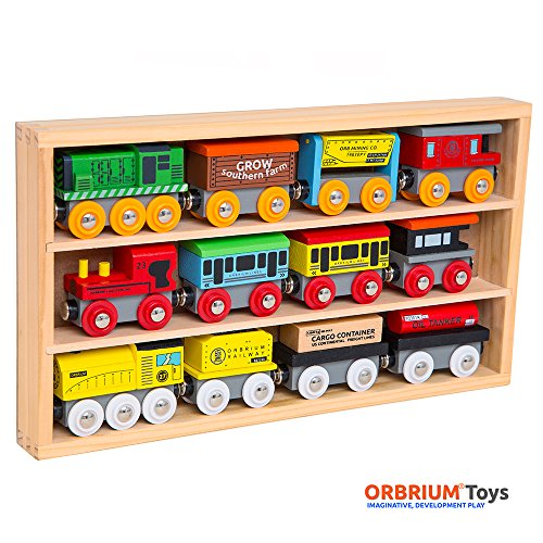 Orbrium-Toys-12-Pcs-Wooden-Engines-Train-Cars-Collection-Compatible-with-Thomas-Wooden-Railway-Brio-Chuggington