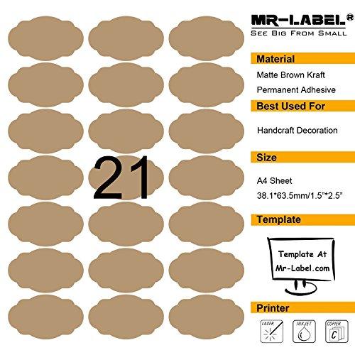 mr-labelr-brown-di-pettine-ovale-kraft-etichette-self-autoadesivi-adesivi-per-la-decorazione-regalo-