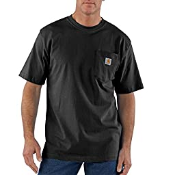 Carhartt Men's Workwear Pocket Short Sleeve T-Shirt Original Fit K87,Black,Small