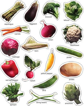 * VEGETABLES PHOTOGRAPHIC (Vegetable Chart compare prices)
