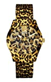 GUESS Womens U0001L2 Sporty Animal Magnetism  Gold-Tone Watch