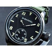 ビーバレル B-BARREL 手巻き式 腕時計 BB0046IPBK-4