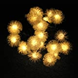 EiioX 4.8M 20 led Warm White Chuzzle Solar Fairy String Lights For Outdoor, Gardens, Homes, Christmas party, New Year Decoration, etc