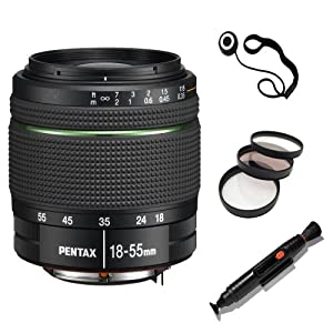 Pentax DA 18-55mm f/3.5-5.6 AL WR Zoom Lens - White Box - 21880 - w/ Lens Starter Kit