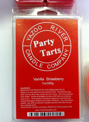 Vanilla Strawberry - YazooCandles 7.0oz Scented Bar -NEW! HUGE! Party Tarts wickless candle warmer wax melts. 3X larger bar!