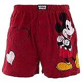 Disney Men's Mickey Red Hearts Boxer Shorts