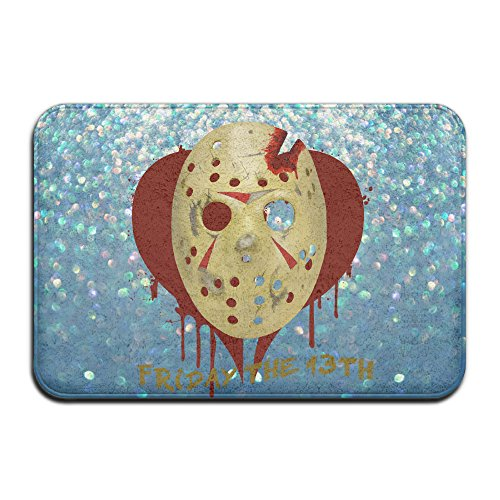 YFF Friday The 13th Bloody Mask Home Furnishing Pet NonSlip Mat 23.6Lx15.7W