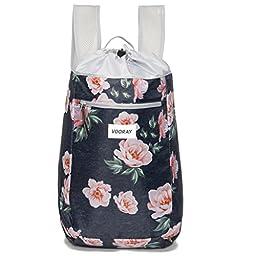 Vooray Stride 16L Cinch Drawstring Backpack, Rose Navy