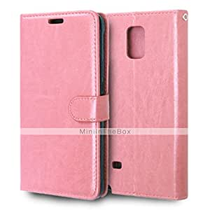 Solid Color Card Stand Leather Case for Samsung Galaxy Note 5 #04578756