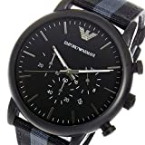 エンポリオ アルマーニ ARMANI クロノ クオーツ メンズ 腕時計 AR1948 ブラック [海外正規品]