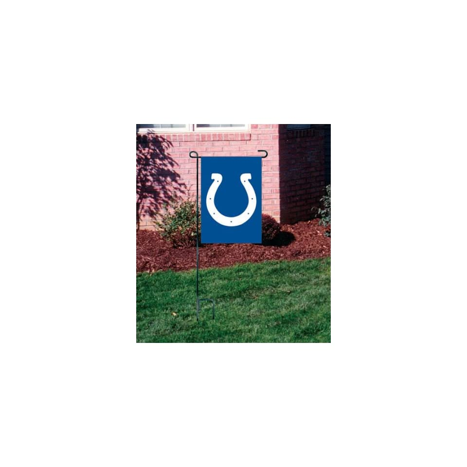 INDIANAPOLIS COLTS OFFICIAL LOGO GARDEN FLAG + STAND