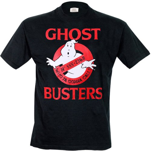 Ghostbusters Men's Ghostbusters Logo Round Collar Short