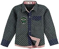 Oye Full Sleeves Printed Shirt 2-3 Years - Blue